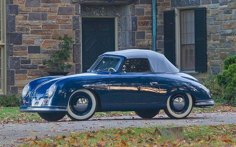 This 1950 Porsche 356 Cabriolet is from the first batch of cars built in Stuttgart, Germany.