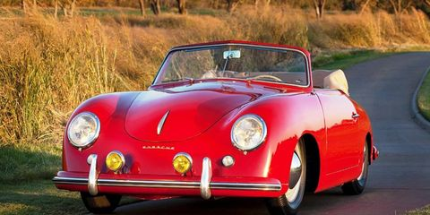 This 1952 Porsche 356 Cabriolet, owned by Robert Wilson, was imported into the United States in November 1952.