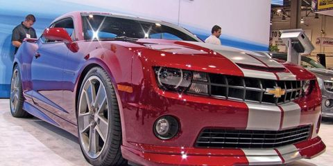 Chevrolet showed off two Camaros with the SS badge at the SEMA show.