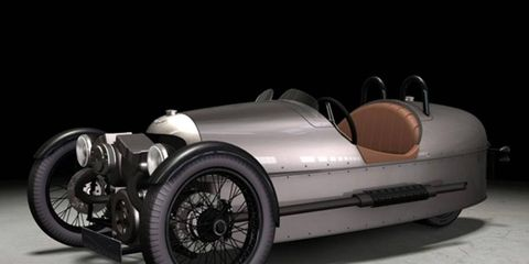 The Morgan Threewheeler is inspired by the cyclecars of the early 20th century, which won the French Grand Prix in 1913.