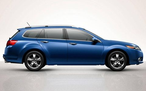 The 2014 Acura TSX Sport Wagon has a 30 mpg highway rating and features a 2.4-liter aluminum-alloy 4-cylinder engine.