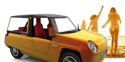 The Rinspeed BamBoo concept is powered by a 72-hp electric motor.