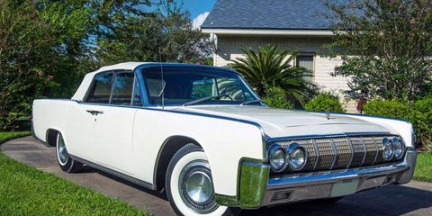 President Lyndon B. Johnson used this 1964 Lincoln Continental convertible on his Stonewall, Texas ranch.