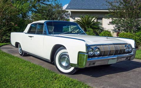 President Lyndon B. Johnson used this 1964 Lincoln Continental convertible on his Stonewall, Texas ranch.
