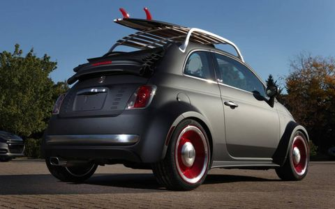 The Fiat 500 Beach Cruiser for the 2012 SEMA show.
