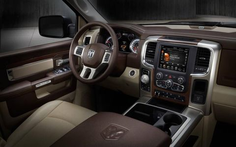 The interior of the 2013 Ram 1500.