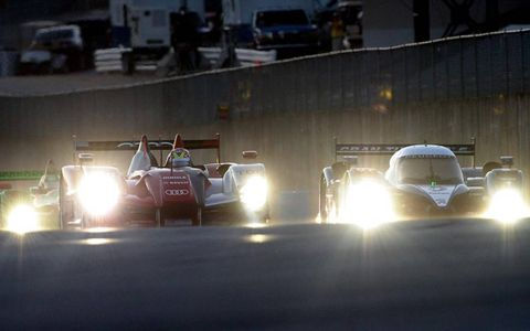 Audi side by side with Peugeot at Road Atlanta