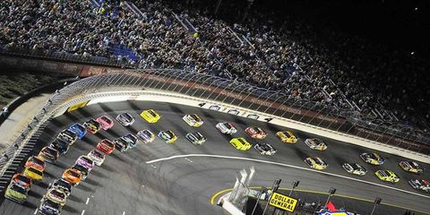 Jimmie Johnson and Carl Edwards lead the start