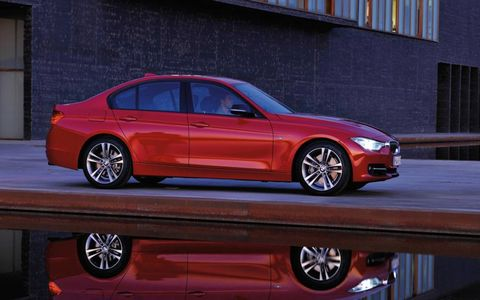 Side view of the new BMW 3-series
