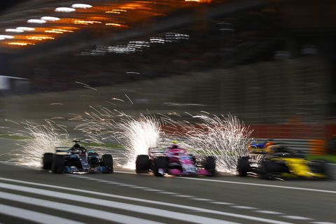 Sights from the F1 Bahrain Grand Prix Sunday, April 8, 2018.