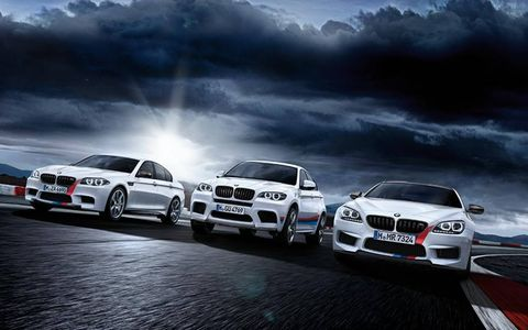 M Performance accessories are available for the M6 and all versions of the M6, as well as the X6.