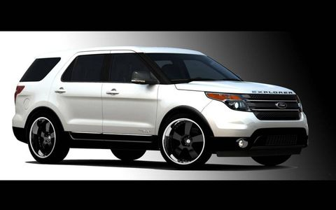 2011 Ford Explorer customized by Funkmaster Flex and Team Baurtwell.