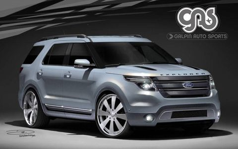 2011 Ford Explorer customized by Galpin Auto Sports.