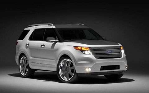 2011 Ford Explorer customized by CGS Performance Products.