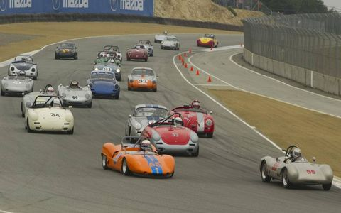 The start of the Gmund Cup race at Rennsport IV at Laguna Seca.