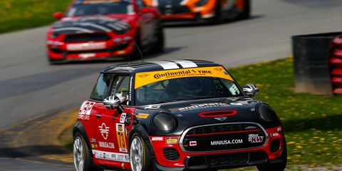 Mat Pombo and Mike LaMarra in the No. 73 race to the Street Tuner (ST) class win at Mid-Ohio Sports Car Course.