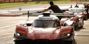 Tristan Nunez and Oliver Jarvis will pilot the No. 77 Mazda RT24-P this weekend on Belle Isle in Detroit.