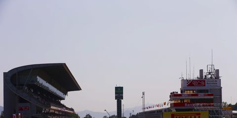 Sights from the F1 action in Barcelona ahead of the Spanish Grand Prix Friday May 11, 2018.