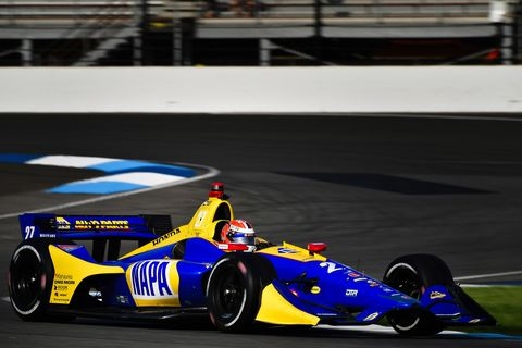Sights from the action ahead of the IndyCar Grand Prix on the Indianapolis Motor Speedway road course, Friday May 11, 2018