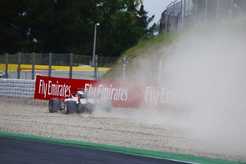 Sights from the F1 action in Barcelona ahead of the Spanish Grand Prix Saturday, May 12, 2018.