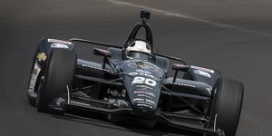 Ed Carpenter had an average speed of 229.618 mph over the 10-mile qualification run.