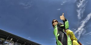 Danica Patrick was given a surprise retirement party following the Indianapolis 500 on Sunday.