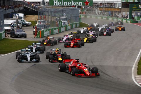 Sights from the F1 Canadian Grand Prix Sunday, June 10, 2018.