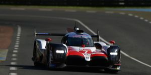 The Toyota Gazoo No. 7 driven by Mike Conway, Jose Maria Lopez and Kamui Kobayashi were fastest in opening Le Mans practice.