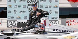 Josef Newgarden won this year's Verizon IndyCar Series race at Road America.