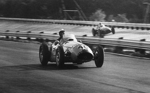 John Fitch at Monza in the Italian Grand Prix in 1955.
