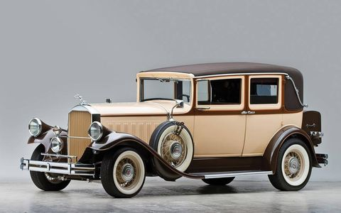 1929 Pierce Arrow Model 124 Custom Brougham to be auctioned Dec. 1 as part of the Staluppi Collection.