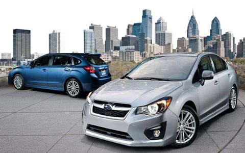 The 2013 Subaru Impreza 2.0i starts at a base price of $21,065.
