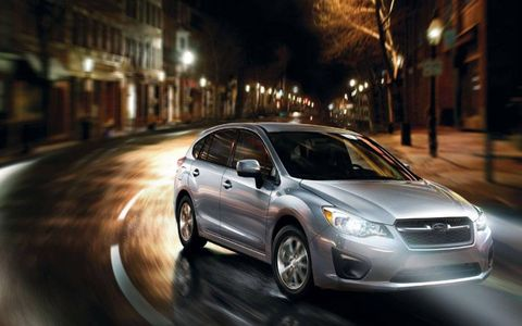 Under the hood, the 2013 Subaru Impreza 2.0i features a 2.0-liter H4 AWD five speed manual. The Impreza has an output of 148 horsepower and 145 lb-ft of torque.