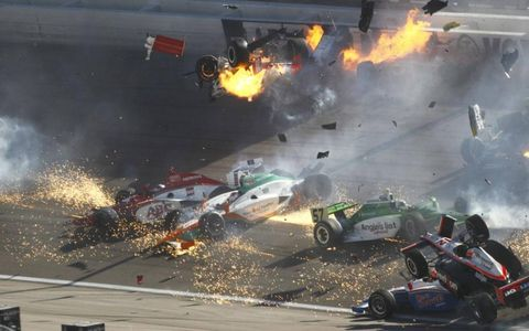 Several cars caught up in the crash.