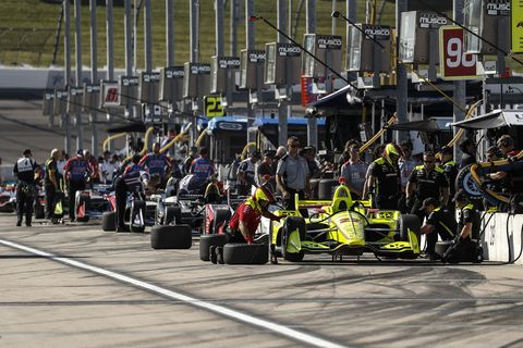 Sights from the action at the IndyCar Series Iowa Corn 300, Sunday July 8, 2018.