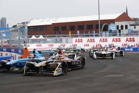 Sights from the Formula E Series New York ePrix Race 2, Sunday July 15,2018.