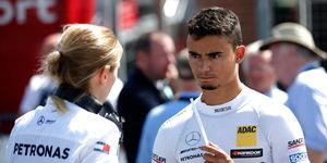 Pascal Wehrlein, right, announced he was leaving the Mercedes stable of drivers. That decision would appear to have opened at least one door with another manufacturer for a possible F1 ride in 2019.