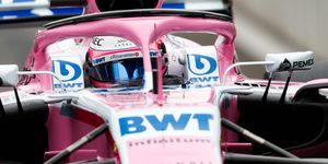 Sergio Perez is ninth in the Formula 1 driver standings.