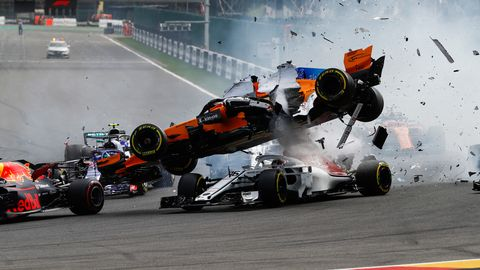 Images from the 2018 Formula 1 Grand Prix at Spa, which was one by Sebastian Vettel by 11 seconds over runner-up Lewis Hamilton.