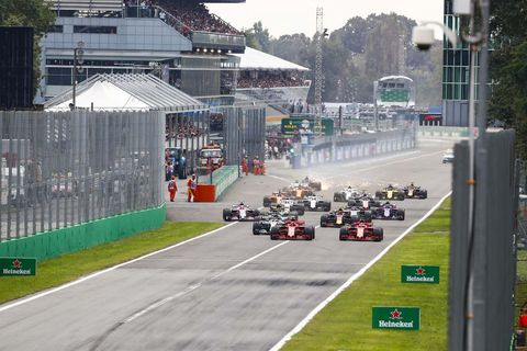Sights from the F1action at the Italian Grand Prix at Monza, Sunday Sept. 2, 2018