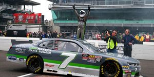 Justin Allgaier left Indianapolis with a 49-point lead in the Xfinity Series standings over Cole Custer.