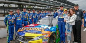 Kyle Busch was crowned the regular season champion on Monday following the Brickyard 400.
