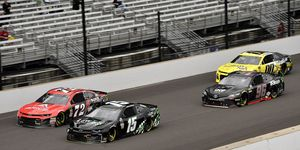 Denny Hamlin felt that back of the pack cars cost him a big win in the Brickyard 400.