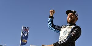 Ross Chastain captured his first NASCAR Xfinity Series victory on Saturday at Las Vegas.
