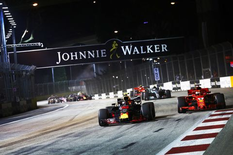 Sights from the F1 action at the Singapore Grand Prix, Sunday Sept. 16, 2018.