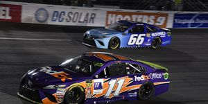 Denny Hamlin faces an early surprise elimination from the Monster Energy NASCAR Cup Series playoffs after two poor finishes at Las Vegas and Richmond.