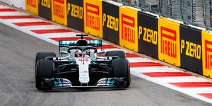 Lewis Hamilton topped the speed charts on Friday in Russia.