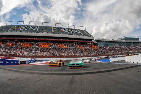 Sights from the NASCAR action at Charlotte Motor Speedway, Saturday, Sept. 29, 2018.
