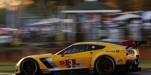 The GTLM class-winning No. 3 Corvette was driven by Antonio Garcia, Jan Magnussen and Marcel Fassler on Saturday at Road Atlanta.