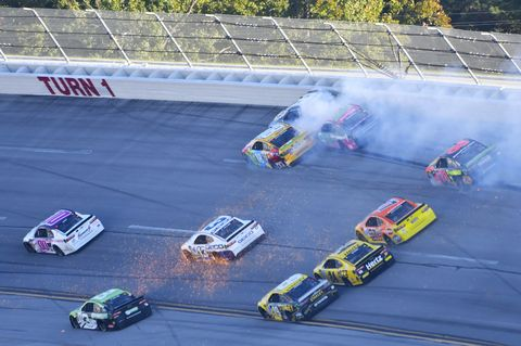 Sights from the NASCAR action at Talladega Superspeedway, Sunday Oct. 14, 2018.